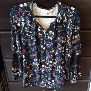 Liz Claiborne Midnight Garden Collection Blouse